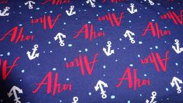 Jersey blau-  Ahoi rot- weiße Ankern