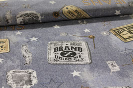 Jeansoptik  Blue Denim  2,80 m breit