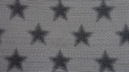 Sweat schwarz - weiße Streifen  mit schwarzen Sternen