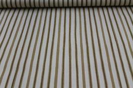 Baumwolle braun/weiße Streifen