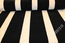 Polsterstoff weiß/schwarz gestreift 101210/90