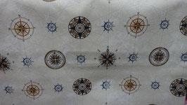Dekostoff Kompass , verschiedene Arten   1,40 m br.
