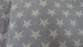 grau mit weißen Sternen.