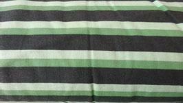 Sweat mit weißen , grünen und schwarzen Streifen