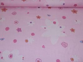 Baumwolle Blumen rosa 700341B