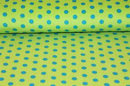 Feinkord grün mit blauen Punkten 200564/58