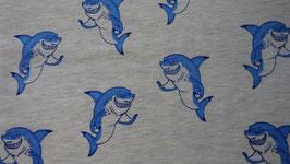 Jersey grau mit lustigen Haien