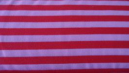 Sweat rosa mit roten Streifen