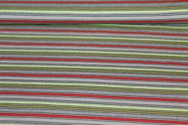 Jersey grau, rot und grüne Streifen 100180/32/63
