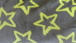 Fleece grau mit gelben Sternen