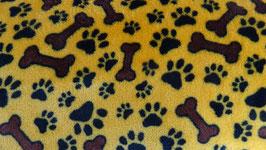 Polarfleece Hundepfoten und Knöchen  gelbbraun