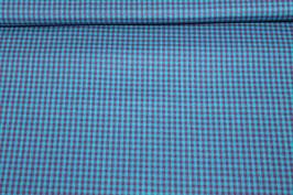 Baumwolle lila/ blaue Karo 502558/44