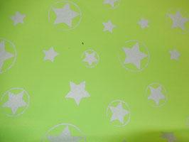 Softshell grün mit silbernen reflektierende Sternen