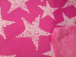 Alpenfleece pink Sterne rosa 302345/40