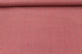 Baumwolle weiß/ rot Karo 502510/32