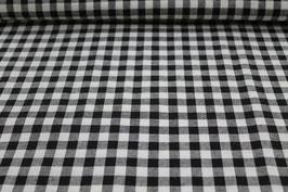 Baumwolle schwarz/weißes Karo 502510/90C