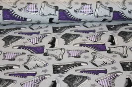 Jersey Schuhe grau/lila 400180/43