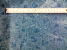 Jeans blau mit Herzen 912253/54