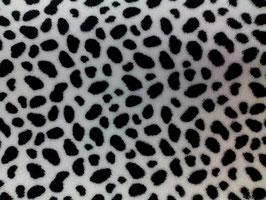 Polarfleece weiß mit schwarzen Flecken 402310/90