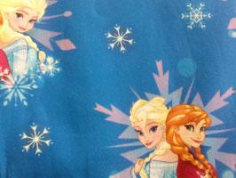 Baumwolle Eiskönigin Anna und Elsa blau 800352