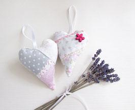 Lavendelherzen 2er Set