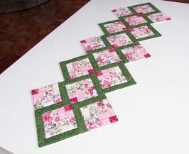 Tischläufer rosa grün