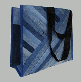 Einkaufstasche, Tragetasche Jeans, dunkelblau
