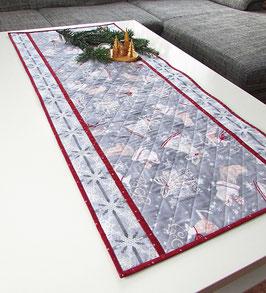 Weihnachtstischläufer grau rot