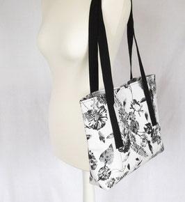 Shopper Tasche schwarz weiß