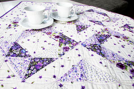 Tischdecke lila weiß