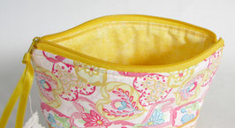 Kosmetiktasche gelb mit paisley