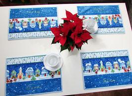 Platzdeckchen, Tischset let it snow 2er Set