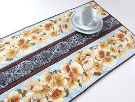 Tischläufer Mohnblumen blau