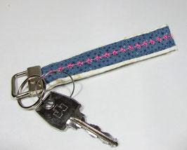 Schlüsselband weiß blau