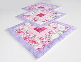 Tischläufer in rosa und lila
