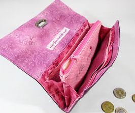 Geldbeutel aus Kunstleder brombeere