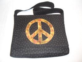 Laptoptasche Peace schwarz