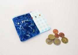 Geldbeutel blau batik