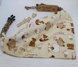 em4dogs Hundehalstuch - Dogs  inkl. Handmade Halsband