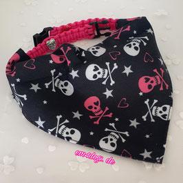 em4dogs Halstuch für Hunde Piratenbraut inkl. Handmade Halsband
