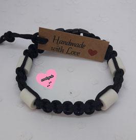 em4dogs EM-Keramik-Armband - schwarz