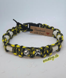 em4dogs EM-Keramik-Hundehalsband - gelb-schwarz