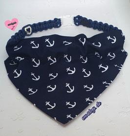 em4dogs Hundehalstuch Ahoi -  inkl. Handmade Halsband