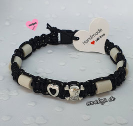 em4dogs EM-Keramik-Hundehalsband - Mini Black Love