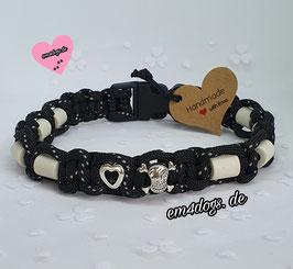 em4dogs EM-Keramik-Hundehalsband - Black Love