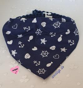 em4dogs Hundehalstuch Ahoi inkl. Handmade Halsband