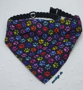 em4dogs Halstuch für Hunde Pfötchenliebe inkl. Handmade Halsband