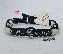 em4dogs EM-Keramik-Hundehalsband - Mini Zebra