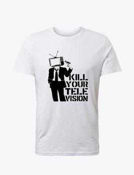 "T-Shirt ""Kill your TV"" Banksy"