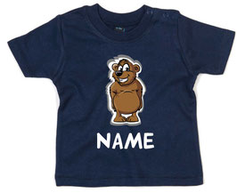 Babyshirt Bär mit Name
